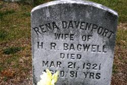 "Irena Ann ""Rena"" <I>Davenport</I> Bagwell"
