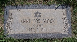 Anne Fox Block