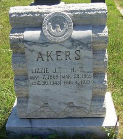 Lizzie J <I>Woods</I> Akers