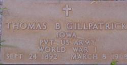 Pvt Thomas Benjamin Gillpatrick