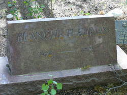 Blanche Emma <I>Hill</I> Adrian