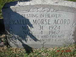 Hallie <I>Morse</I> Acord