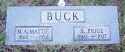 "Martha Ann ""Mattie"" <I>Merrell</I> Buck"