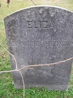 "Elizabeth Frances ""Eliza"" <I>Bridwell</I> Herndon"