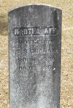 Martha Ann <I>Shores</I> Graham