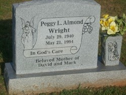 Peggy Louise <I>Almond</I> Wright