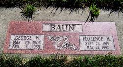 Florence M <I>Beals</I> Baun