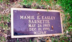 Mamie E <I>Easley</I> Barnette