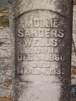 "Mary Jane ""Mollie"" <I>Sanders</I> Wells"