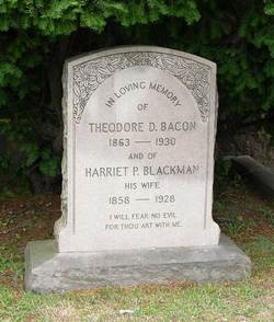 Harriet P <I>Blackman</I> Bacon