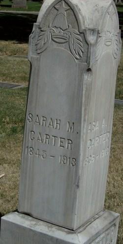 Sarah Margaret <I>Glover</I> Carter