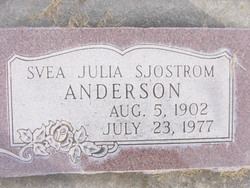 Svea Julia <I>Sjostrom</I> Anderson