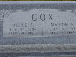Mary Lucile <I>Schiess</I> Cox