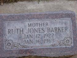 Ruth <I>Jones</I> Barker