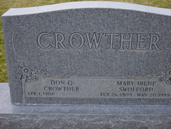 Mary Irene <I>Swofford</I> Crowther