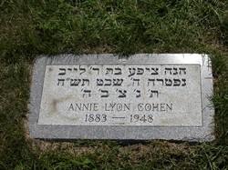Annie <I>Lyon</I> Cohen