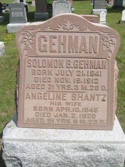 Angeline <I>Shantz</I> Gehman