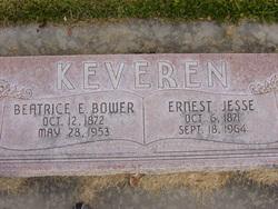Beatrice Eliza <I>Bower</I> Keveren