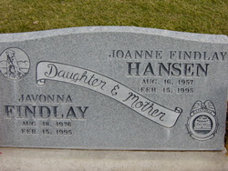 Joanne <I>Findlay</I> Hansen