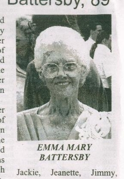 Emma Mary <I>Fryer</I> Battersby