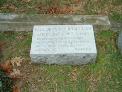 Ella <I>Broadus</I> Robertson