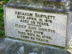 Mary Ann <I>Curtis</I> Bartlett