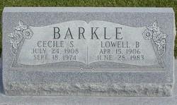 Cecile Elizabeth <I>Schiess</I> Barkle