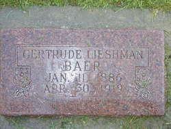 Gertrude Hansen <I>Leishman</I> Baer