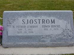 Nellie Ester <I>Lemmon</I> Sjostrom