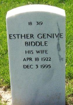 Esther Genive <I>Mettee</I> Biddle