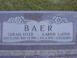 Sarah <I>Hyer</I> Baer