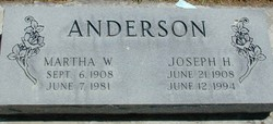 Martha Helen <I>Weibel</I> Anderson