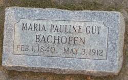 Maria Pauline <I>Gut</I> Bachofen
