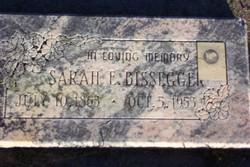 Sarah Elizabeth <I>Bullock</I> Bissegger