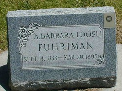 Anna Barbara <I>Loosli</I> Fuhriman