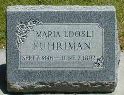 """Anna Maria """"Mary"""" <I>Loosli</I> Fuhriman"""