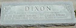 June Elizabeth <I>Abrams</I> Dixon