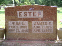 "Luvina L. Mary ""Vina"" <I>Wood</I> Estep"