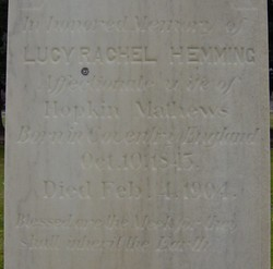 Lucy Rachel <I>Hemming</I> Mathews