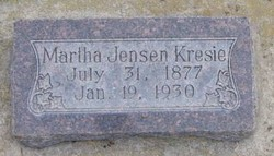 Martha <I>Jensen</I> Kresie