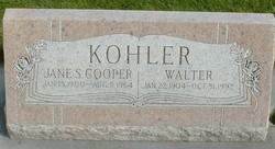 Jane Spence <I>Cooper</I> Kohler