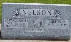 Mary Kathryn <I>Summers</I> Nelson