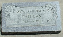 Alta <I>Andersen</I> Mathews