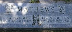 Kate <I>Vogel</I> Mathews