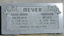 Anna Marie <I>Dietiker</I> Meyer