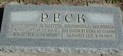 Ruth Mary <I>Rossiter</I> Peck