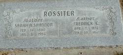 Sarah Ann <I>Shannon</I> Rossiter