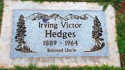 """Irving Victor """"Irvy"""" Hedges"""