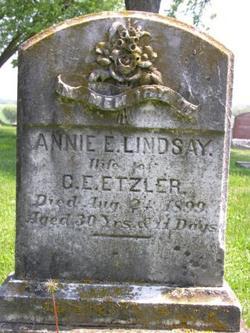 Annie E. <I>Lindsay</I> Etzler