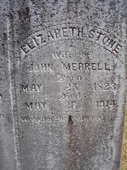 Elizabeth <I>Stone</I> Merrell